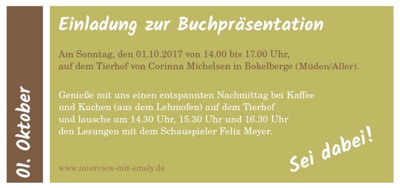"""Buchpräsentation """"Interview mit Emely"""""""